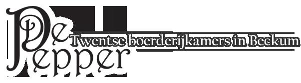 Logo De Pepper - Twentse boerderijkamers
